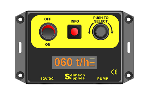 selmech digital control box showing set pick up rate in tonnes per hour