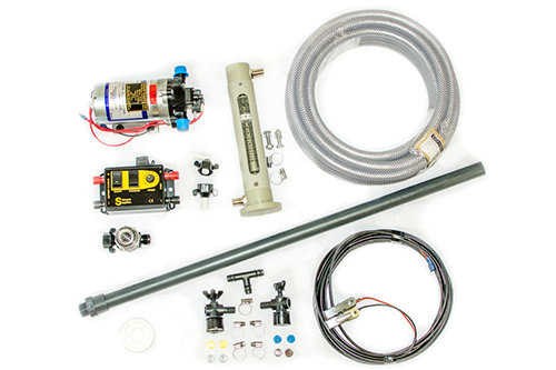 Diaphragm applicator kit with flowmeter